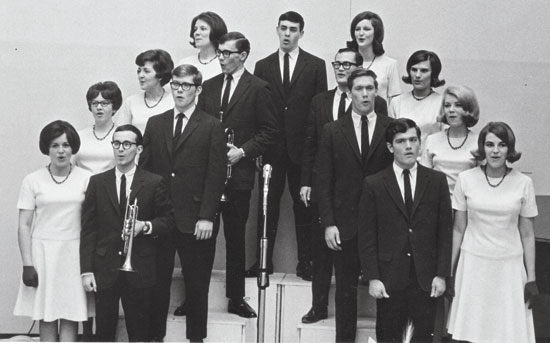1965 – 2. The Singing Collegians debut. Starting in the 1965-66 academic year and continued until 1974.
